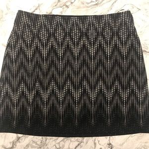 Athleta Fleece Lined Thermal Chevron Skirt Size L